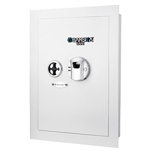 Barska AX13030 White Biometric Wall Safe, One Size