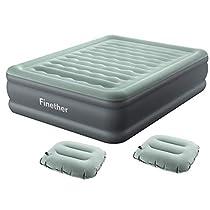 Finether エアーベッド ダブル エアマットレス キャンプ 空気ベッド ...