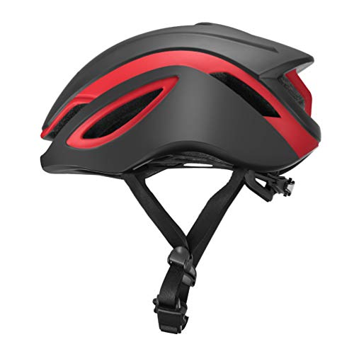 ROCK BROS Aero Road Bike Helmet TT Triathlon Aero Cycling Helmet Adjustable M L for Road Race Mountain Bikes Men Women BlackRed-L (Best Aero Tt Helmet)