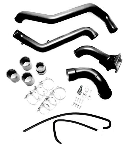 2013 Chevy Diesel - GXP High Flow Y-Bridge Kit with Hot & Cold Side Intercooler Pipes For 2011-2016 Chevy/GMC 6.6L LML Duramax Diesel (Black)