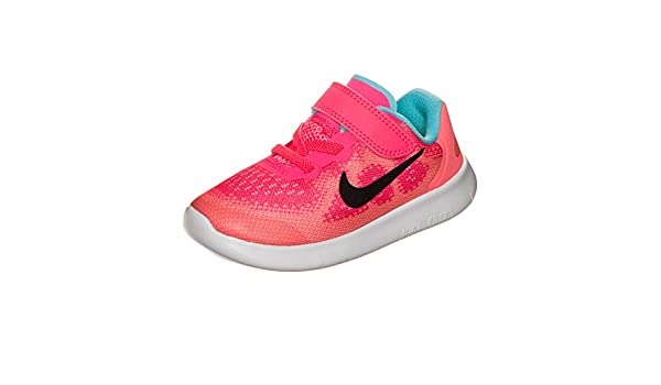 a4893c92c3eac Amazon.com  Nike Kids Free RN 2017 Infant Toddler Racer Pink Black Lava Glow  Pure Platinum Girls Shoes  Shoes