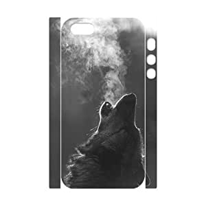 Iphone 5,5S 3D DIY Phone Back Case with Wolf Image
