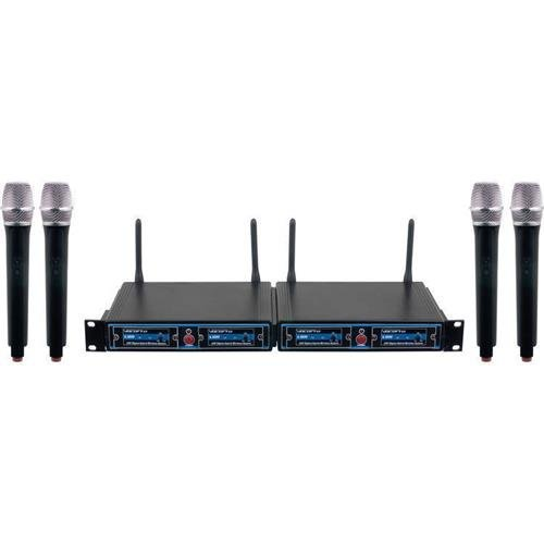 Microphone 900mhz Wireless (VOCOPRO UDH-CHOIR-4-MIB FOUR CHANNEL WIRELESS HANDHELD MICROPHONE SYSTEM IN A BAG)