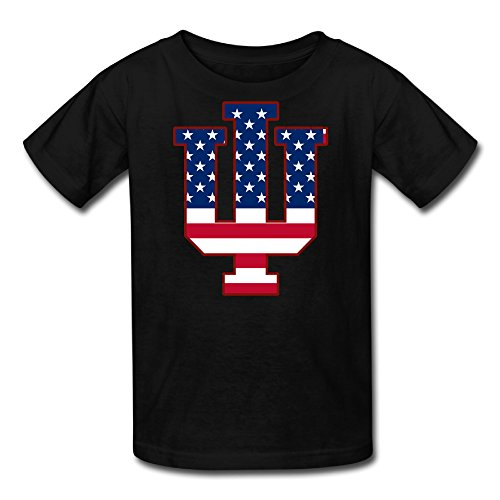 Price comparison product image AMAG Indiana IU Flag Bloomington Children Boys And Girls Tshirt Black Size S