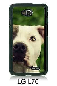 Pitbull Dog Black LG L70 Screen Cover Case Unique and Fashion Design