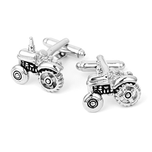 VIccoo Novelty Tractor Shaped Men's Wedding Party Business Shirt Cufflinks Cuff Links
