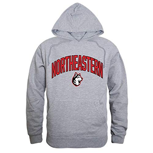 - W Republic Apparel Northeastern University Huskies Campus Hoodie Sweatshirt Heather Grey Large