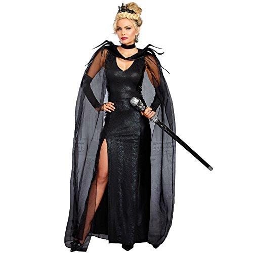 Evil Queen Of Hearts Halloween (Dreamgirl Women's The Queen of Mean, Black,)