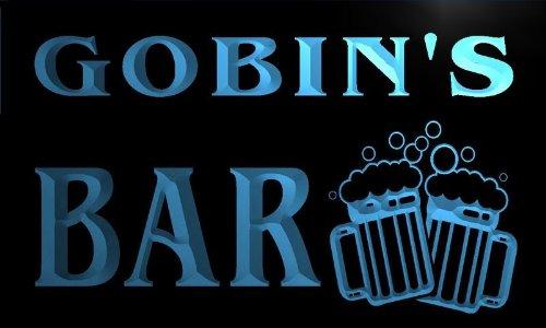 w018768-b GOBIN'S Name Home Bar Pub Beer Mugs Cheers Neon Light Sign