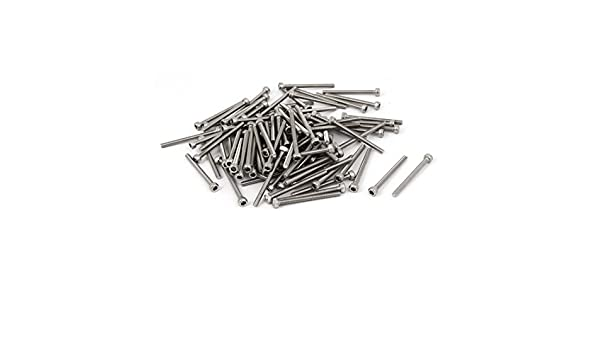 uxcell M3x35mm Thread 304 Stainless Steel Hex Socket Head Cap Screw Bolt DIN912 55pcs a16080900ux0216