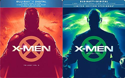 Comic X Trilogy Steelbook Limited Edition Vol. 1 & 2 6 Movie X2 / Last Stand + X-Men: First Class Days of Future Past and Apocalypse (Rogue Cut From Days Of Future Past)