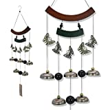 Astarin Copper Wind Chimes, Butterfly Wind Chimes with Copper Bells for Outdoor Indoor Decor,Bring Good Luck to Home or Someone in Memory,30""