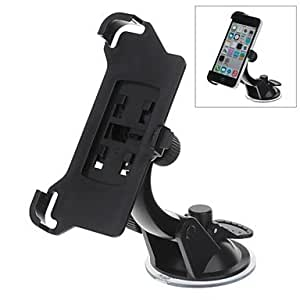 Piaopiao 360 Degree Rotation Holder Mount with H07 Suction Cup for iPhone 5c , Black