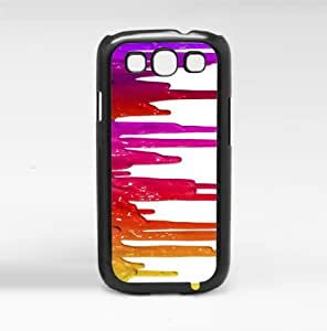 Different Shades of Red Paint Dripping Hard Snap on Case (Galaxy S3 III)