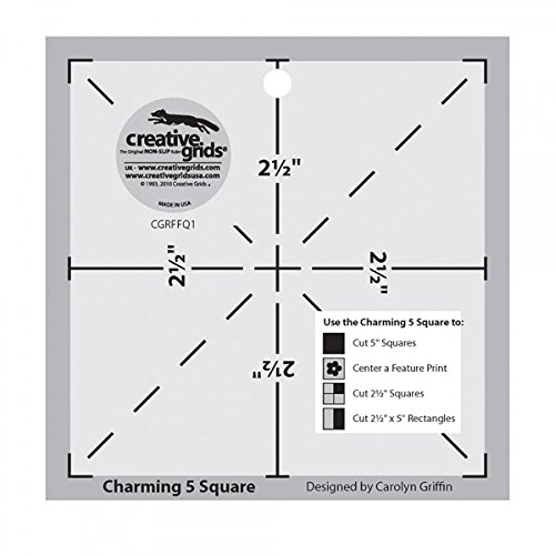 Template 1 Creative Grids Charming 5 Inch Square Quilt Template CGRFFQ1 the Charming 5 Square