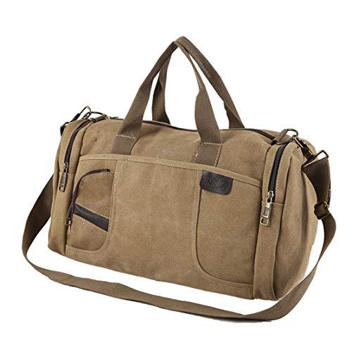 Jeunesse Canevas Beige Sac Voyage Plein D'épaule Multi Janexi Grande Portatif Vintage Bags De Shoulder Capacité Hommes Fourre usage Air 4UOtwx0q