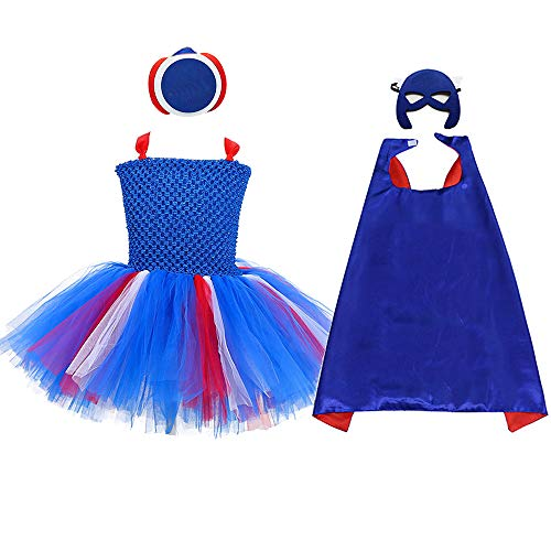 AQTOPS Girls Supergirl Costumes Small -