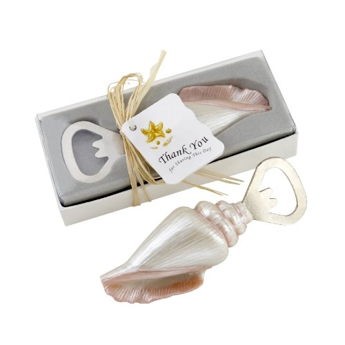 Shore Memories Sea Shell Bottle Opener with Thank you Tag (Seashell Gift)