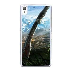 Far Cry 4 H7R6Sl caja del teléfono celular Funda Sony Xperia Z3 funda blanca Y9E3DE funda caja del teléfono para hombres duros