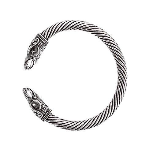 Band Wolf - QIANJI Viking Raven Bracelet Bangle Twisted Wire Raven Cuff
