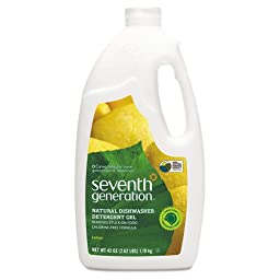 Seventh Generation Automatic Dishwasher Detergent, Gel, Lemon Scent, 42 oz. Bottle - Includes six per case.