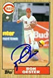 Ron Oester autographed Baseball Card (Cincinnati Reds) 1987 Topps #172