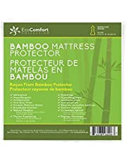 100% Waterproof Mattress Protector Bamboo Jacquard 300GSM, Smooth Finish, Breathable Fitted Comfort
