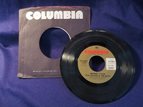 BONNIE TYLER Total Eclipse Of The Heart/From The Heart 45 RPM COLUMBIA RECORDS