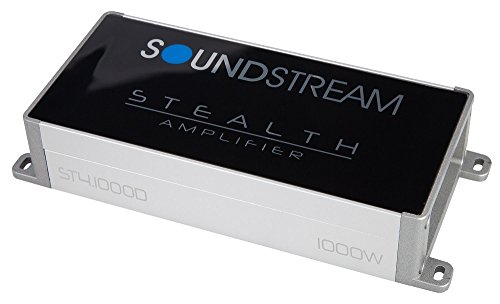 Soundstream ST4.10000D Compact 4-Channel Car Amplifier 90WX4 - ST4.1000D