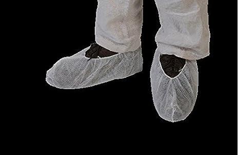 f08160724bcb23 Lot de 100 Surchaussures blanche jetables solide 40 g/m2 pour grande taille  et chaussure