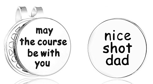 Golfers Gift Set - ELOI Golf Ball Markers Nice Shot Dad Golfer Gift with Magnetic Hat Clip Father's Day Christmas Gift for Daddy Golf Lover