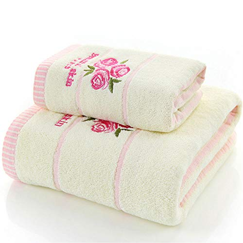 Wash 100 Rayon - ZCF Super Soft Towel - 100% Pure Ringspun Cotton - Luxurious Rayon Trim - Ideal for Everyday use - Easy to wash Machine wash (Edition : B)