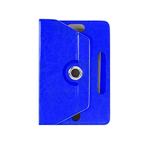 Universal Leather Stand Case Cover (Blue) - 5