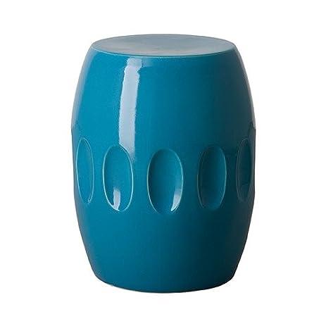 blue garden stool. Orion Garden Stool - Turquoise Blue