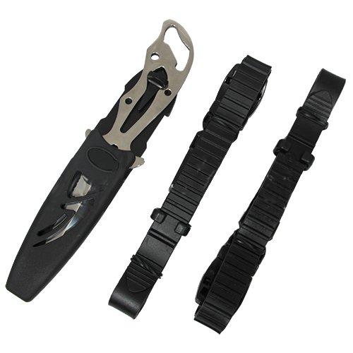 Cuchillo con 2 correas para pesca submarina - Acero ...