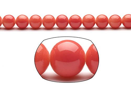 Coral 10mm Round Beads - 6