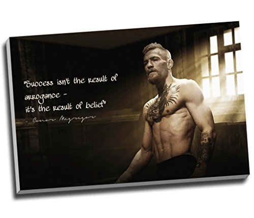 Panther Print Conor Mcgregor Qoute Canvas Print Wall, used for sale  Delivered anywhere in USA