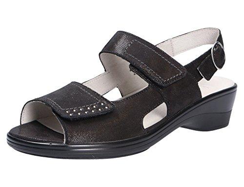 Waldläufer 445006-185-001 - Sandalias de vestir para mujer negro