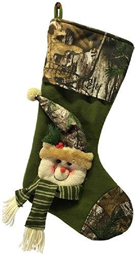 Santas Forest 49335 Christmas Snowman Stocking, Camo, 21