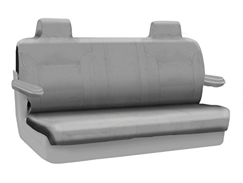 Coverking Custom Fit Rear Solid Bench Seat Cover for Select Lincoln Town Car Models - Ballistic (Light Gray) ()