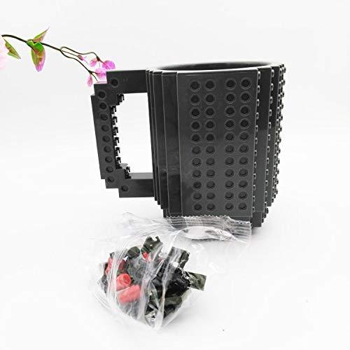 Creative Bath Glass Blocks - | Coffee Cups & Mugs | New Drinkware Building Blocks cups DIY Block Puzzle cup 1Piece Build-On Brick creative cup Type Coffee Cup Milk beer | by AQANATURE