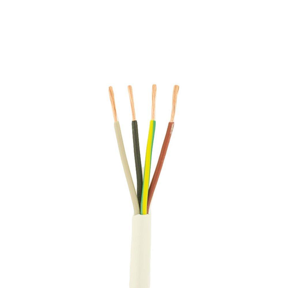 /à 4 broches plusieurs longueurs de coupe disponibles blanc rond Rouleau int/égral de c/âble flexible