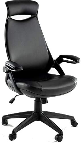 Office Chair Leather Multifunction Executive Swivel Ergonomic High-Back Task Lumbar and Headrest Support Computer Chair