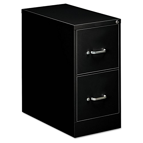 OIF Two Drawer Economy Vertical File Cabinet, 15-Inch Width by 26-1/2-Inch Depth by 29-Inch Height, Black