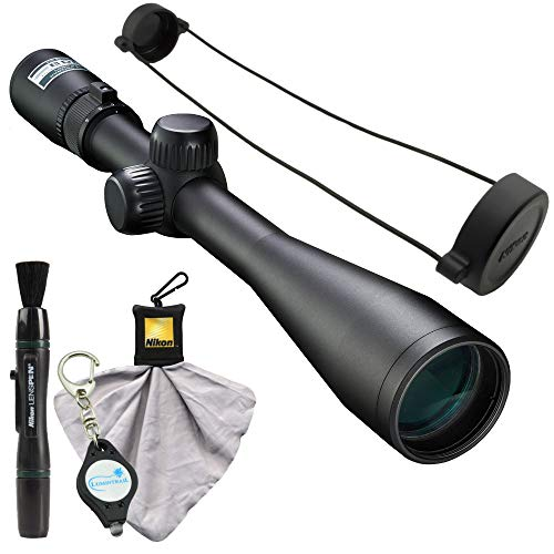 Nikon 4-12x40 BDC Riflescope (16559), Matte Black Bundle with a Cleaning Cloth, Lens Pen, and Lumintrail Keychain Light