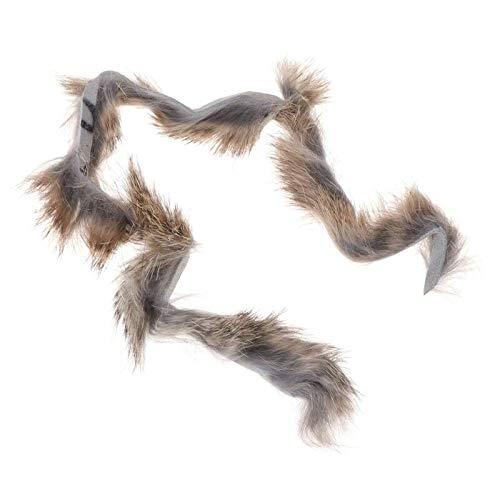 (Rabbit Zonker Strips Fly Fishing Tying Barred Vertical Cut Streamer Animal Hair (Color - 12#))