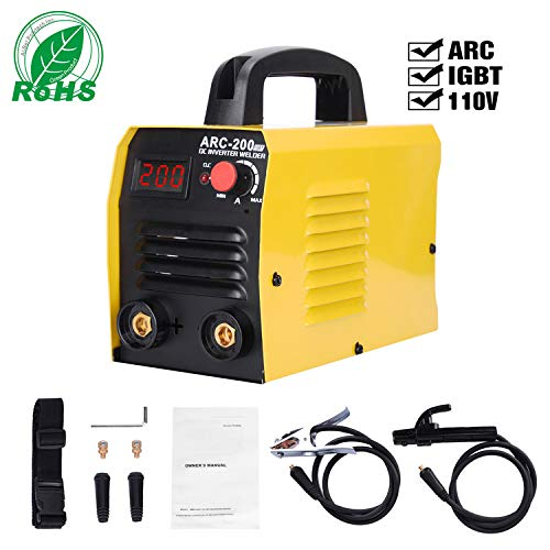 ARC Welding Machine, 110V,200 Amp Power,IGBT Smart Welder With LED Digital Display Fit For Welding Rod Equipment Tools Accessories