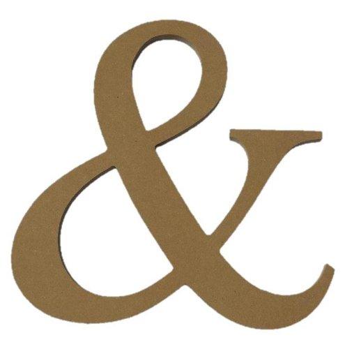 """10"""" Unfinished Wooden Ampersand  Letter"""