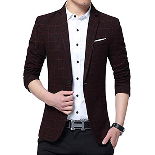 Men Casual Red Single Jacket Arrival Slim Fashion Fashion Blazers Men Spring Breasted Party Suit RrZ5nRqx