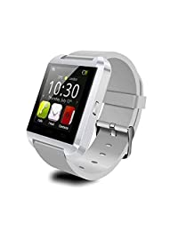 2014 Luxury Bluetooth Smart Watch Wrist Wrap Watch Phone for IOS Apple iphone 4/4S/5/5C/5S Android Samsung S2/S3/S4/S5/Note 2/Note 3 HTC... (White)